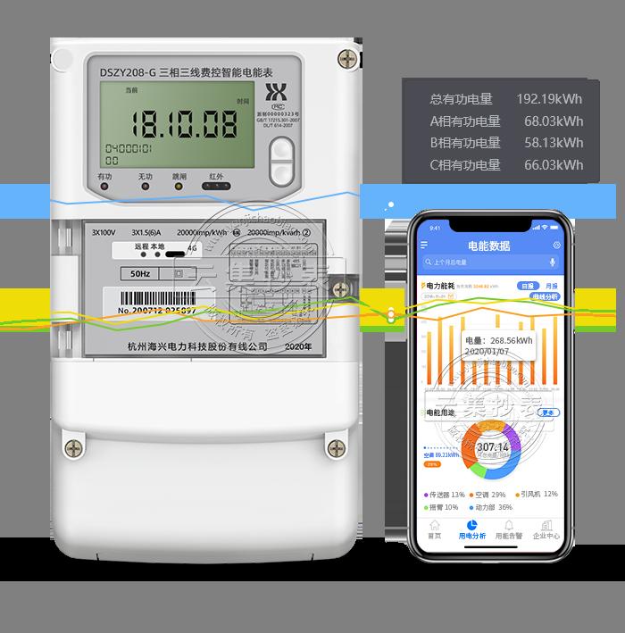 海兴DSZY208-G GPRS(无线)物联网电表