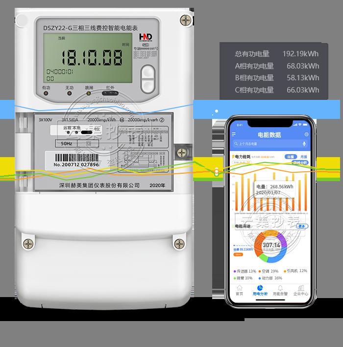 浩宁达DSZY22-G GPRS(无线)物联网电表