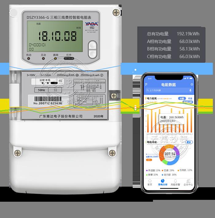 雅达DSZY3366-G 4G/GPRS(无线)物联网电表