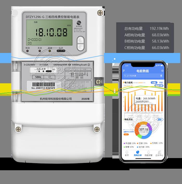 炬华DTZY1296-G 4G/GPRS(无线)物联网电表