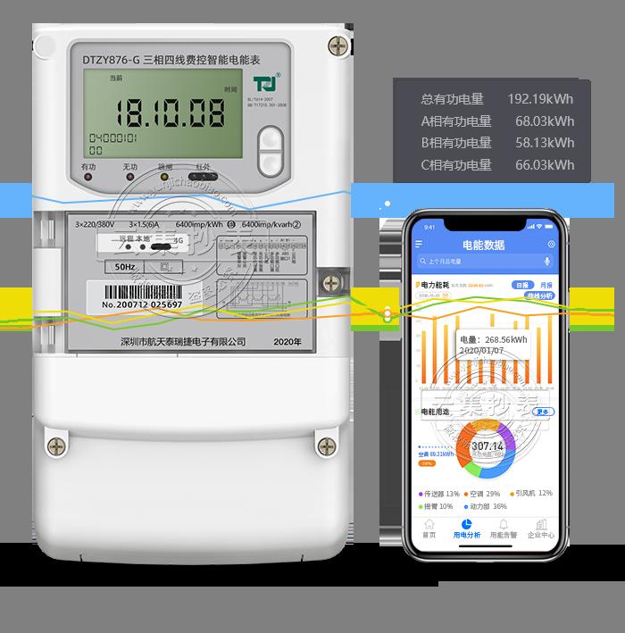 泰瑞捷DTZY876-G GPRS(无线)物联网电表