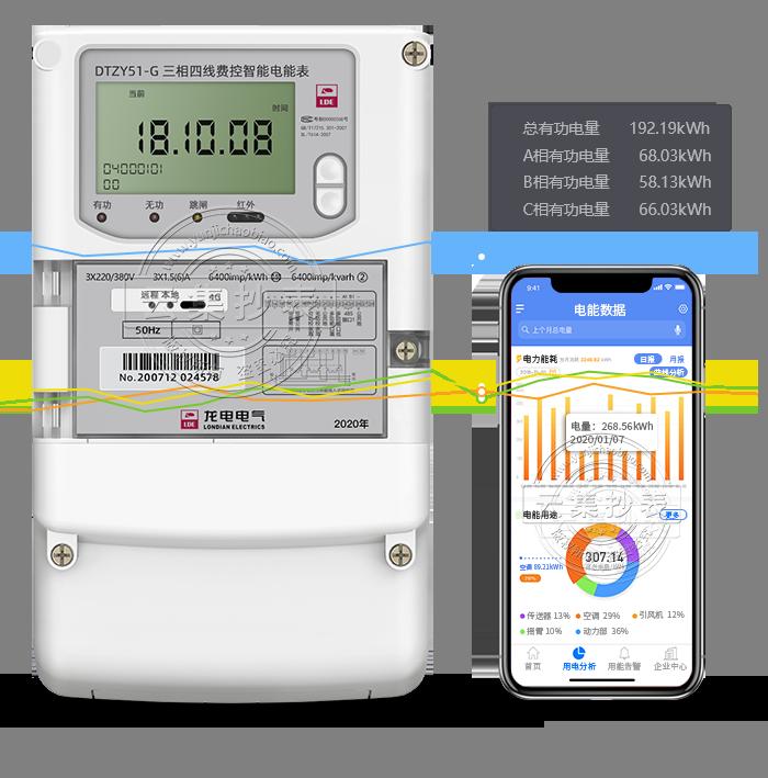 龙电DTZY51-G 4G/GPRS(无线)物联网电表